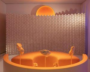 Чилийский архитектор представила «живую» инсталляцию из солевых панелей