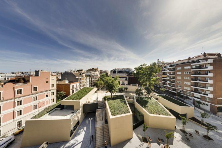 Удивительные библиотеки мира.Часть 1.Библиотека Сады Марагаля в Барселоне (Испания), студия BCQ Arquitectura