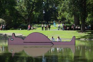 В саду Le Jardin des Plantes в Нанте появились плоские инсталляции