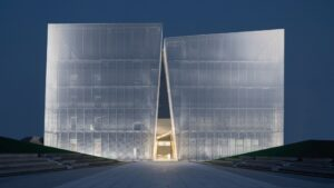 AOE построили здание-ущелье в Китае