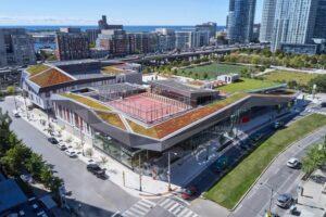 Canoe Landing Campus с зеленой крышей и солнечными панелями от ZAS Architects